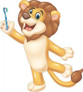 Personagem para criança com autismo escovar os dentes