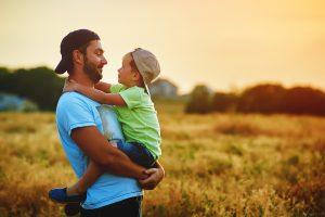 Tratamento para o autismo - pai e filho