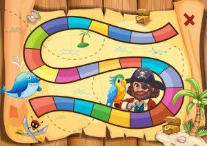Criança com autismo e jogo de tabuleiro