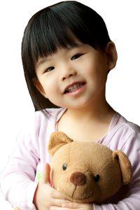 Tratamento para o autismo - menina pequena