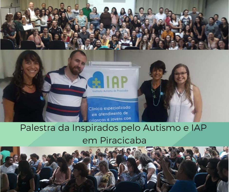 Palestra da Inspirados pelo Autismo e IAP em Piracicaba